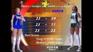 (FINALS 3) Rd6. China vs Kenya - Volleyball Women