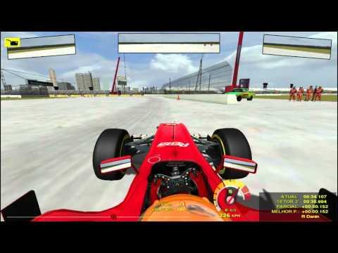 Teste - Mod RBR 8 F1 Race Car GSC For rFactor - Larrousse AV - Edmonton Airport Raceway