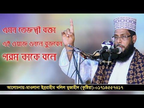 Bangla Waz Mawlana Ibrahim Khalil Mujahid kushtia 2017 গরম কাকে বলে একবার এই ওয়াজ শুনুন