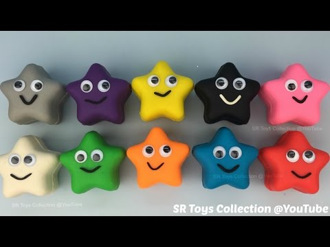 Thumbnail: Play and Learn Colours with Play Doh Stars Smiley Face Fun for Kids