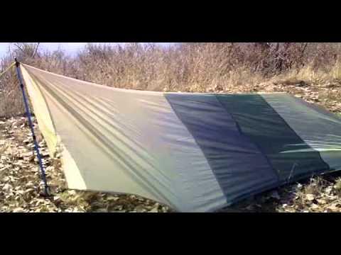 & Homemade Nylon Backpacking Tarp - YouTube