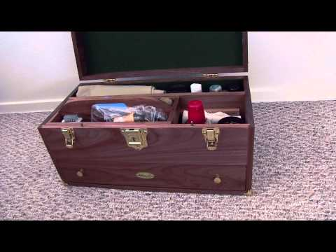 Gerstner & Sons Wood Case in Walnut for Shoe Care Supplies