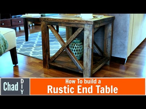 DIY Rustic Cross End Table