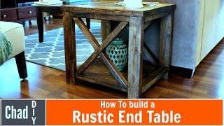 DIY Rustic Cross End Table