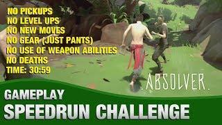 Absolver Speedrun (Challenge: No Pickups, No Level Ups, No Gear, No Deaths) 30:59