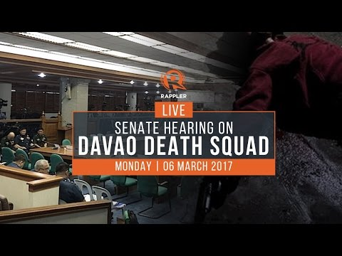 LIVE: Senate hearing on Davao Death Squad, 06 March 2017