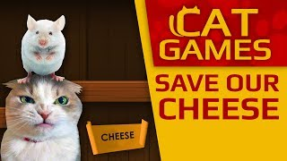 CAT GAMES - Save our Cheese!!! (VIDEO FOR CATS TO WATCH) 2 HOURS 4K