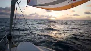 Pacific crossing on a sailboat, April 2012, Gudrun V