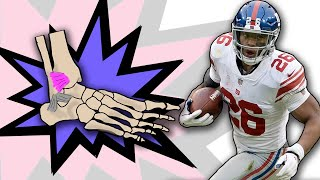 Doctor Reviews Saquon Barkley ANKLE INJURY and High Ankle Sprain Evaluation