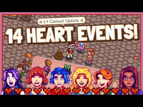 NEW 14 Heart Events Showcase For ALL Bachelorettes! - Stardew Valley 1.4