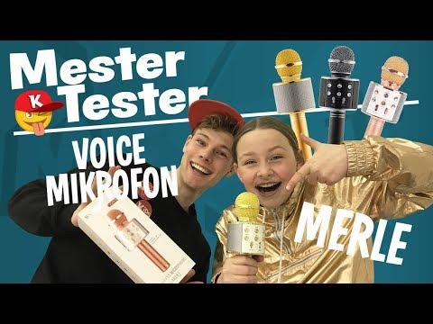SYNGER KARAOKE m/ Merle fra VOICE JUNIOR | Mester Tester