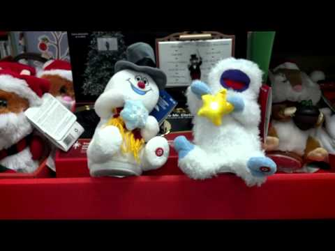 Battle of the Christmas songs at Home Depot.