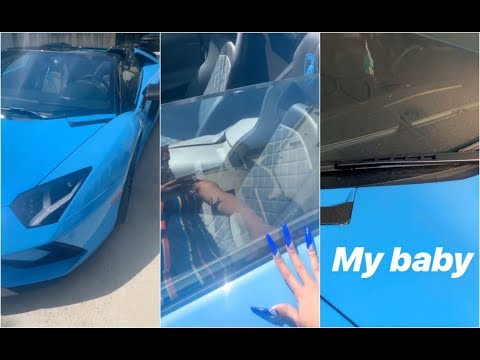 Cardi B Finds A Footprint On Her Lamborghini