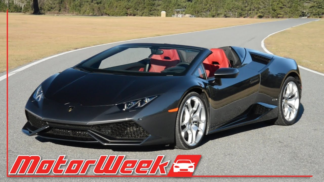 Motorweek First Look 2016 Lamborghini Huracán Lp 610 4 Spyder