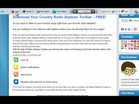 Download Your Country Radio Stations Toolbar