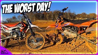 Riding Chinese Dirt Bikes In Some Serious Mud Was The Worst Idea We Had!