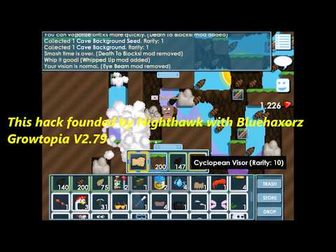 Growtopia 2.79 1 punch to break hack (founded by nighthawk with bluehaxorz)