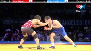 1ST PLACE: 57 KG Hassan Rahimi (Iran) vs. Viktor Lebedev (Russia)