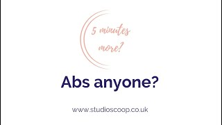 Studio Scoop Pilates | 5 Minutes More | Abs anyone?