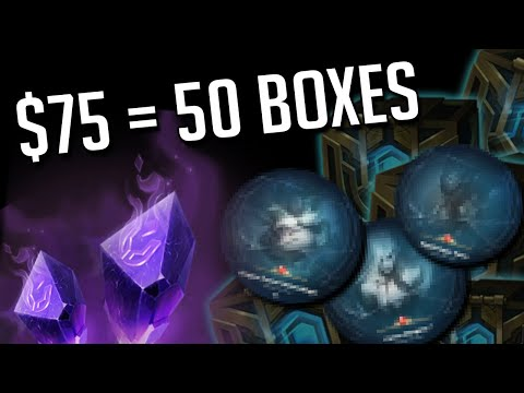 I spent $75 on Hextech Crates and oh lord THE PROFIT