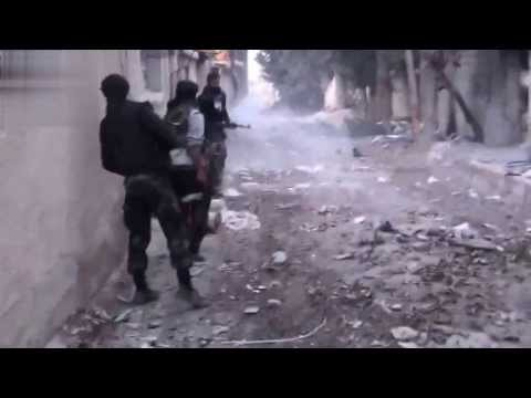 Syria War: Terrorists Insane Heavy Firefight Intense Close Combat Action With Enemy Visible