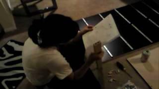 Aimee's Dumbass Trying To Build An Ikea Dresser.