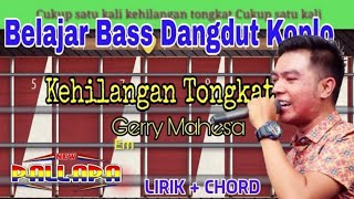 Belajar Bass Dangdut Koplo Kehilangan Tongkat Gerry Mahesa New Pallapa
