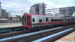 Metro-North & Amtrak Trains at Stamford + M8 Headlight Oopsie - 09/22/2012