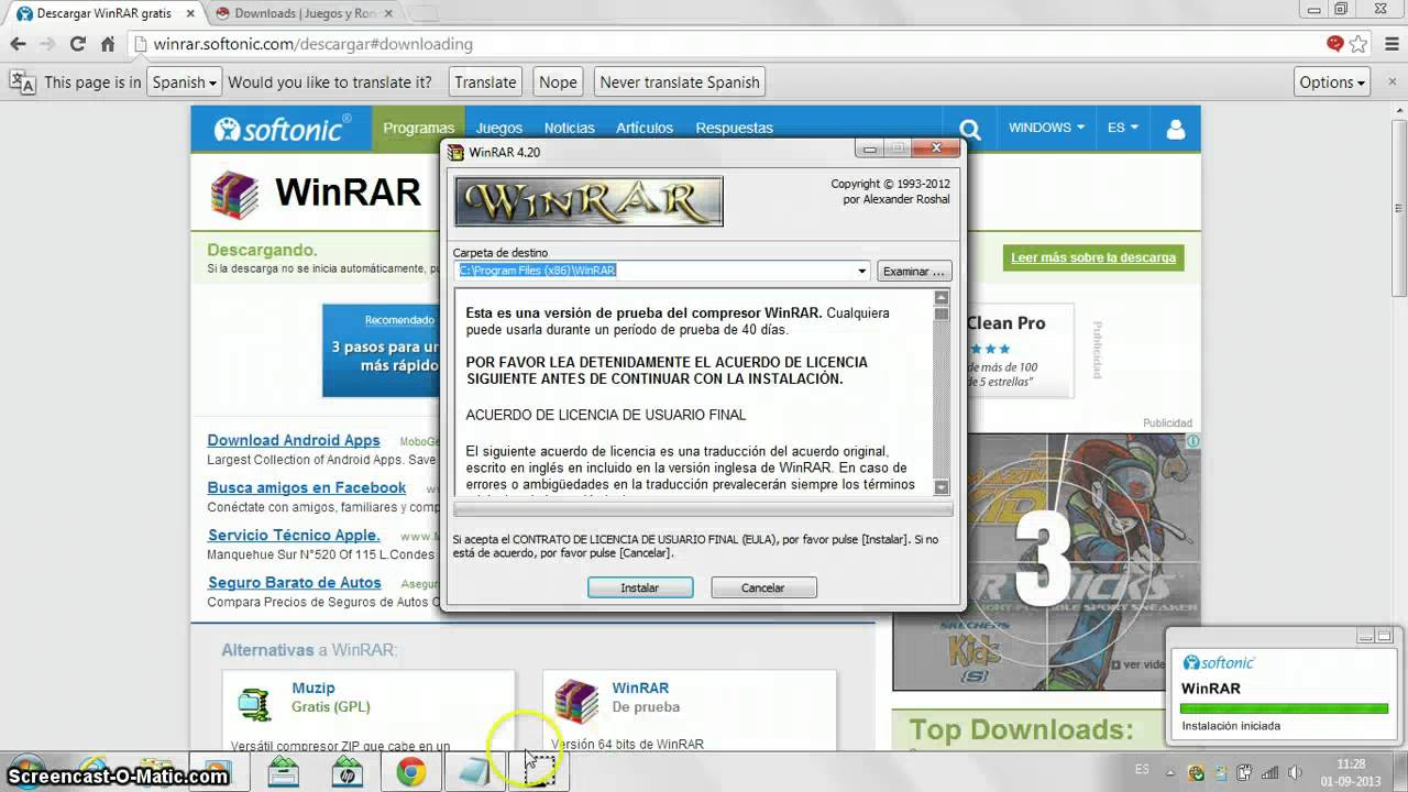 descargar win rar softonic