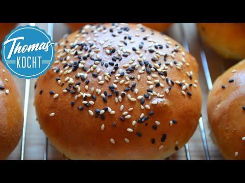 Geniale Brioche Burger Buns / Burger Brötchen