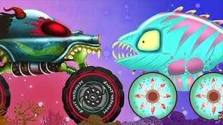Aquatic World | Haunted House Monster Trucks | Cartoon Videos For Children - Kids Channel