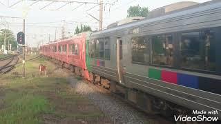 783系運転 783系CM35+CM21 特急かもめ100号博多行 長崎本線神埼駅通過