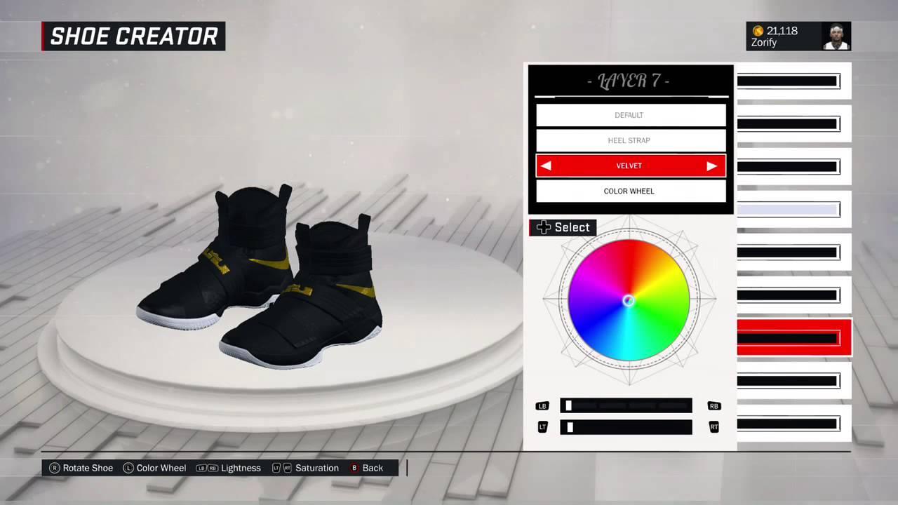 new product 7fcd0 1c321 NBA 2K17 Shoe Creator - Nike Soldier 10 PE