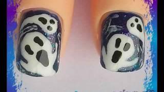 Cute Spooky Ghosties Nail Art