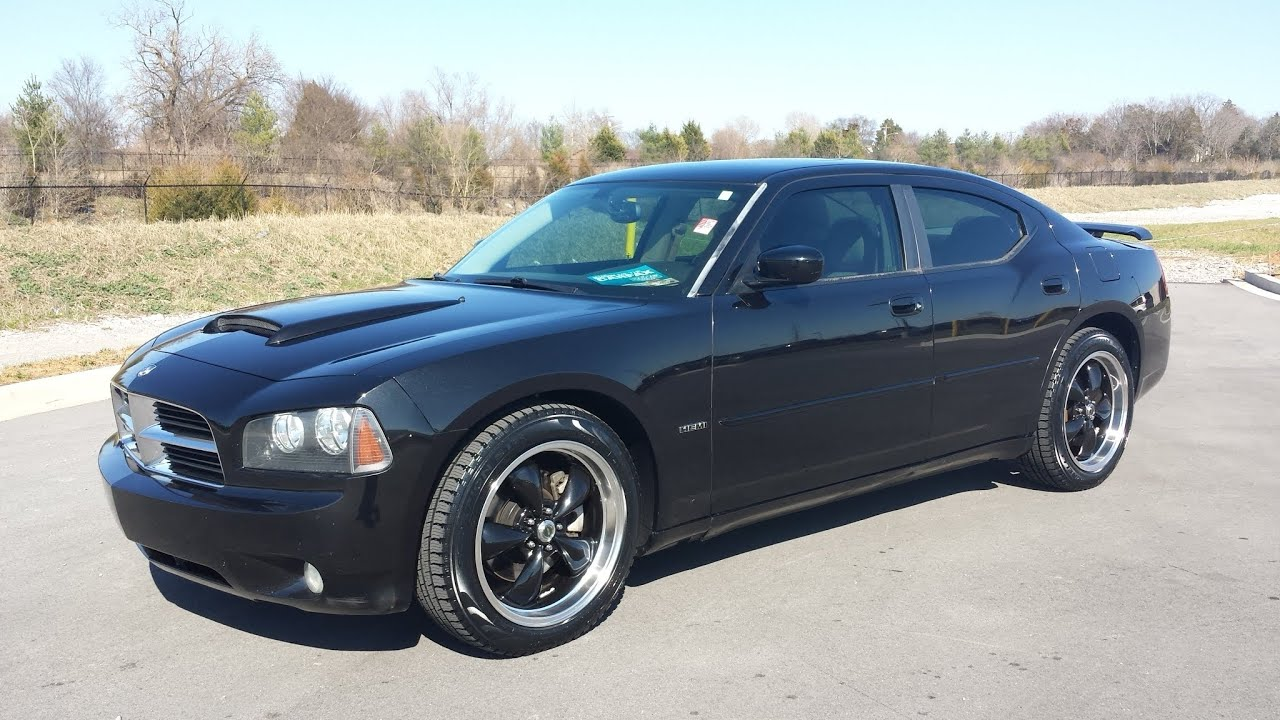 Sold 2006 Dodge Charger R T 5 7 Hemi V8 Black Crystal 131k