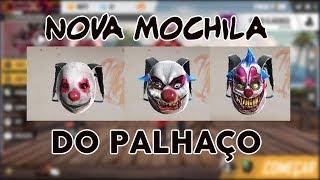 NOVA MOCHILA DO JOKER/PALHAÇO/TRUQUE DO JESTER - FREE FIRE BATTLEGROUNDS