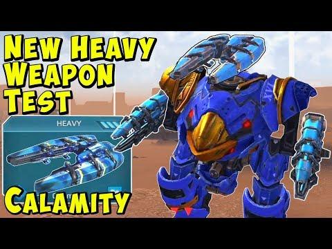 New Heavy Weapon CALAMITY Gameplay - War Robots Test Server WR