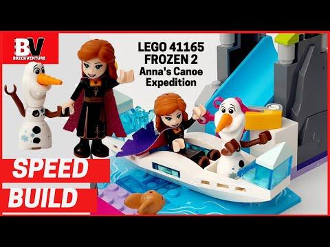 lego-41165-disney-frozen-2-anna's-ice-canoe-river-slide-olaf-lego-speed-build-4+-brick-playset