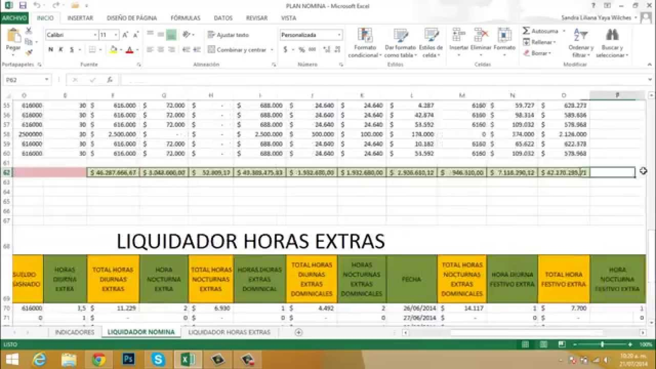 Videos ciclo of2013 excel 03 ejercicio nomina parte 1 for Nomina en excel xls