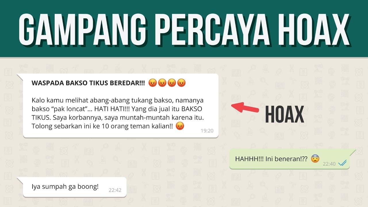 Mengapa Orang Mudah Percaya Hoax?