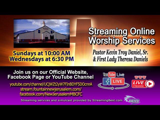 03-28-2021 - New Jerusalem MBC Live Stream with Pastor Kevin T. Daniels, Sr.