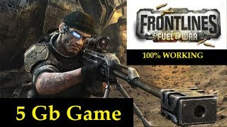 How to Download and Install Frontlines Fuel of War game for pc