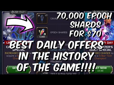 70,000 Epoch Shards for $70 - Best Daily Offers In The History of MCOC - Marvel Contest of Champions