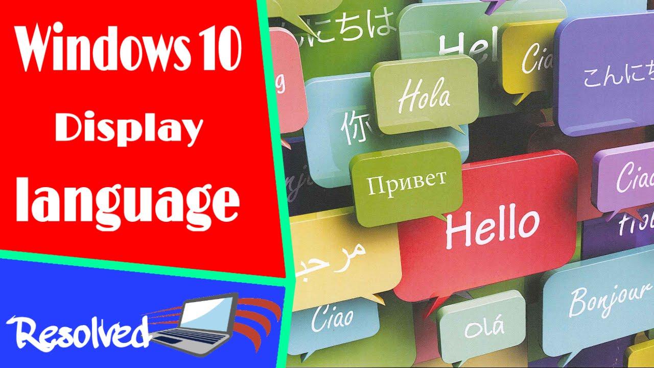 windows 10 how to change language