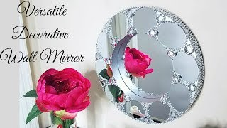 Diy Deep Round Decorative Wall Mirror| Wall Decorating Ideas!
