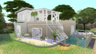 ECO LIFESTYLE INSPIRED BUILD   The Sims 4   CC Speed Build