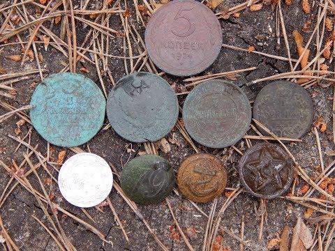 Удачный коп по старине Поиск монет и кладов