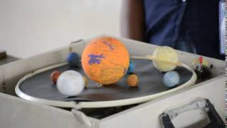 Solar system working model by 7th standard Holy Angels student
