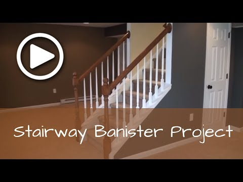 How to Install a Basement Stairway Banister with Newel Post (Complete Detailed Training)