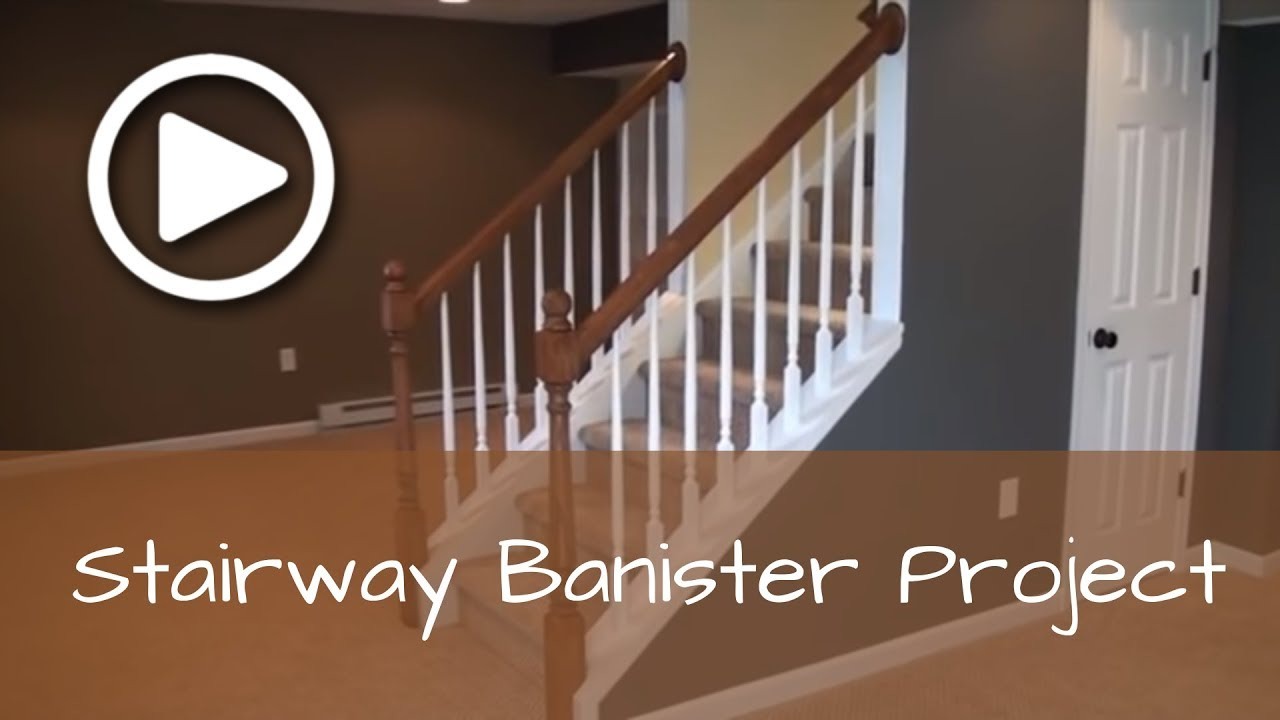 Charmant How To Install A Basement Stairway Banister With Newel Post (Complete  Detailed Training)